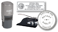 Notary Stamps & Supplies available is a full range of notary seals, embossers, and notary self-inking stamps.